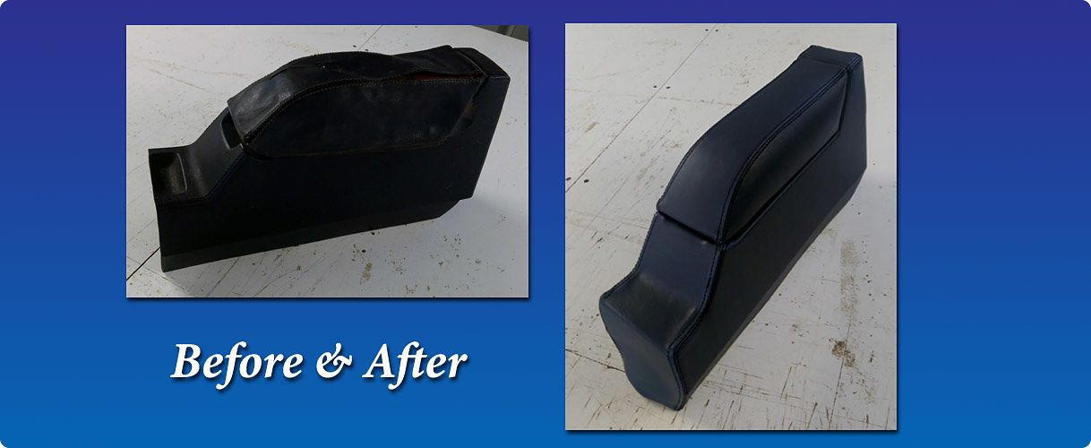 Car centre console new upholstery vinyl