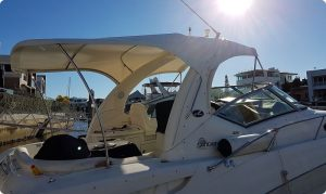 Boat bimini top white