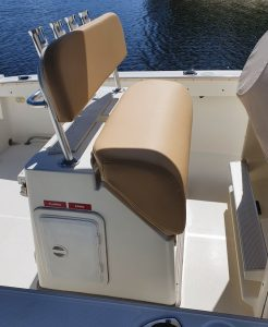 Marine Grade Upholstery Caramel Helm Seat
