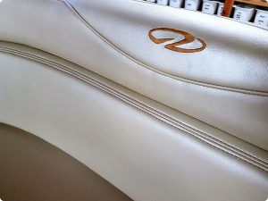 Embroidered boat seating