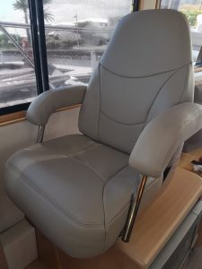 Boat Upholstery Helm Seat