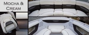 Mocha and cream Boat Seat Upholstery