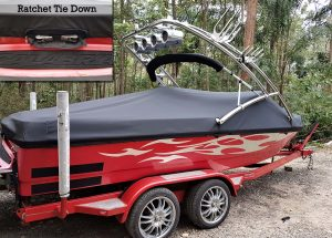 red ratchet boat cover pic