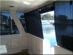 Boat marine mesh screens